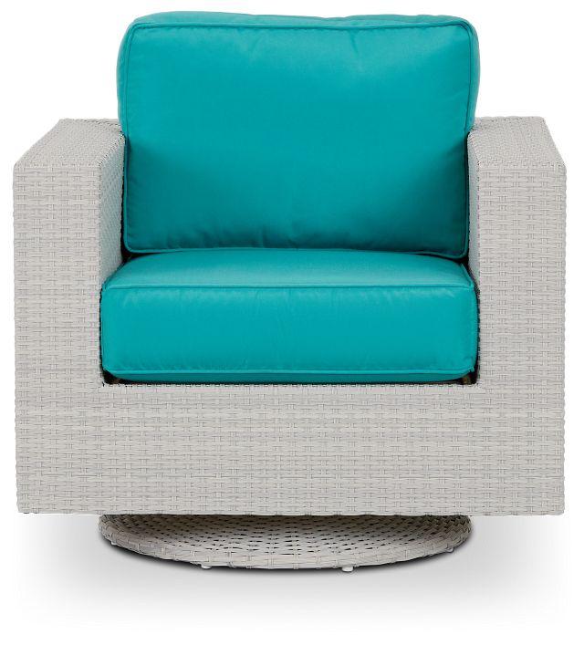 Biscayne Dark Teal Swivel Chair (2)