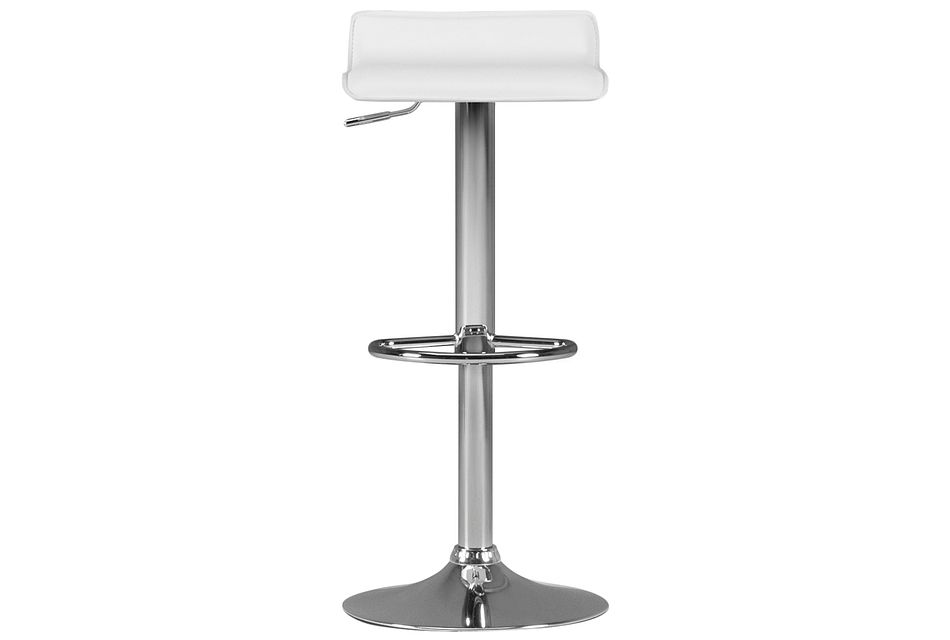 Colton White Adjustable Stool