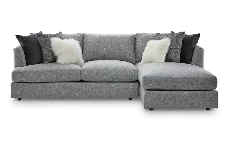 Sydney GRAY FABRIC Right Chaise Sectional