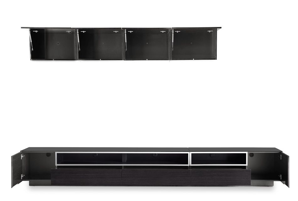 "Vancouver 134"" Dark Tone 6-piece Left Modular Entertainment Wall"
