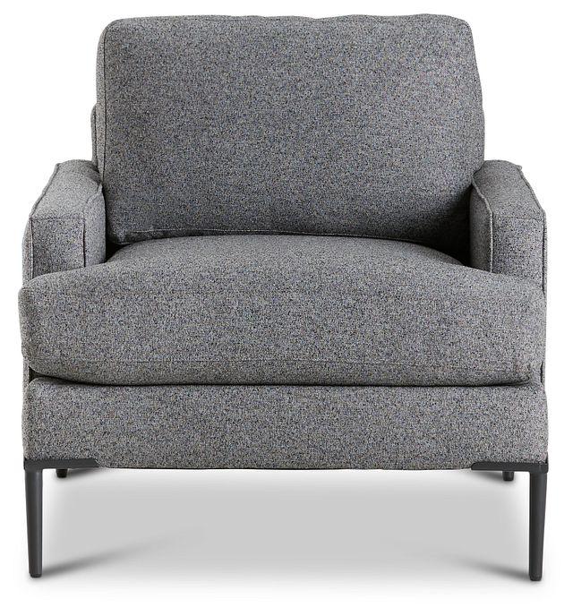 Morgan Dark Gray Fabric Chair With Metal Legs (3)
