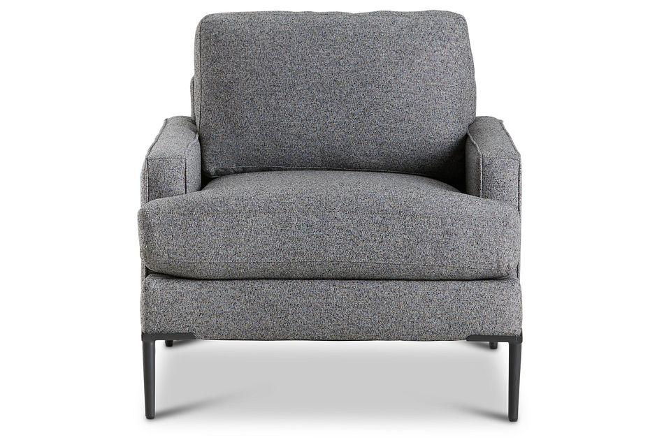 Morgan Dark Gray Fabric Chair With Metal Legs