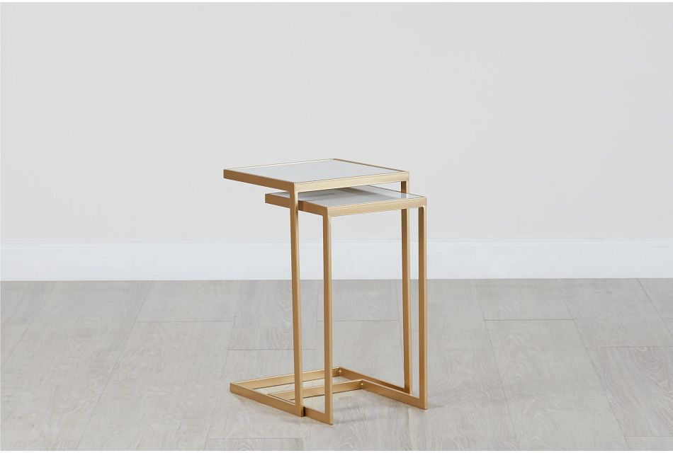 Sorrento Gold Marble Nesting Tables