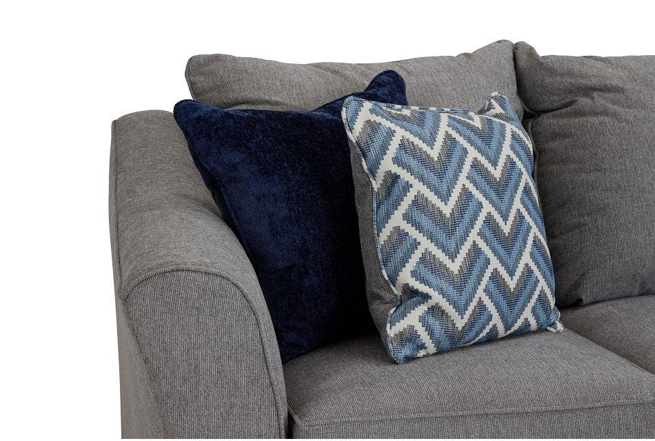 Maggie Light Gray Fabric Medium Right Facing Cuddler Sectional