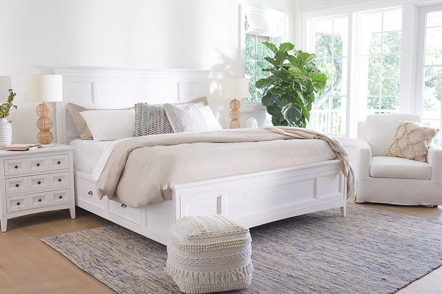 Heron Cove White Panel Storage Bed (3)