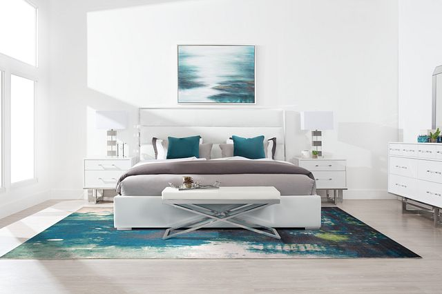 Cortina Champagne Uph Platform Bedroom (1)