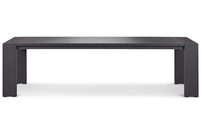 "Linear Dark Gray 110"" Rectangular Table"