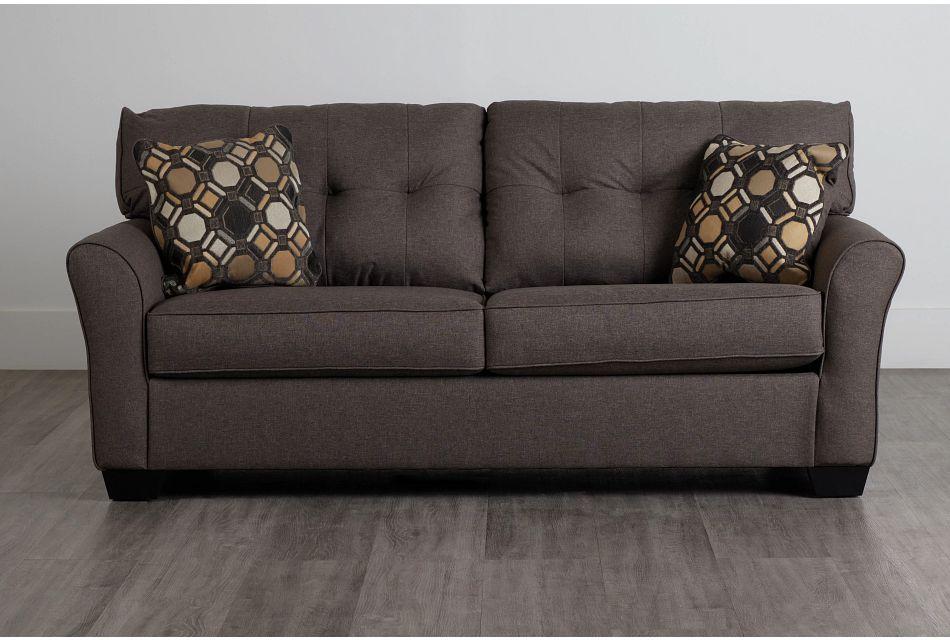 Laryn Dark Gray Micro Sofa,  (0)