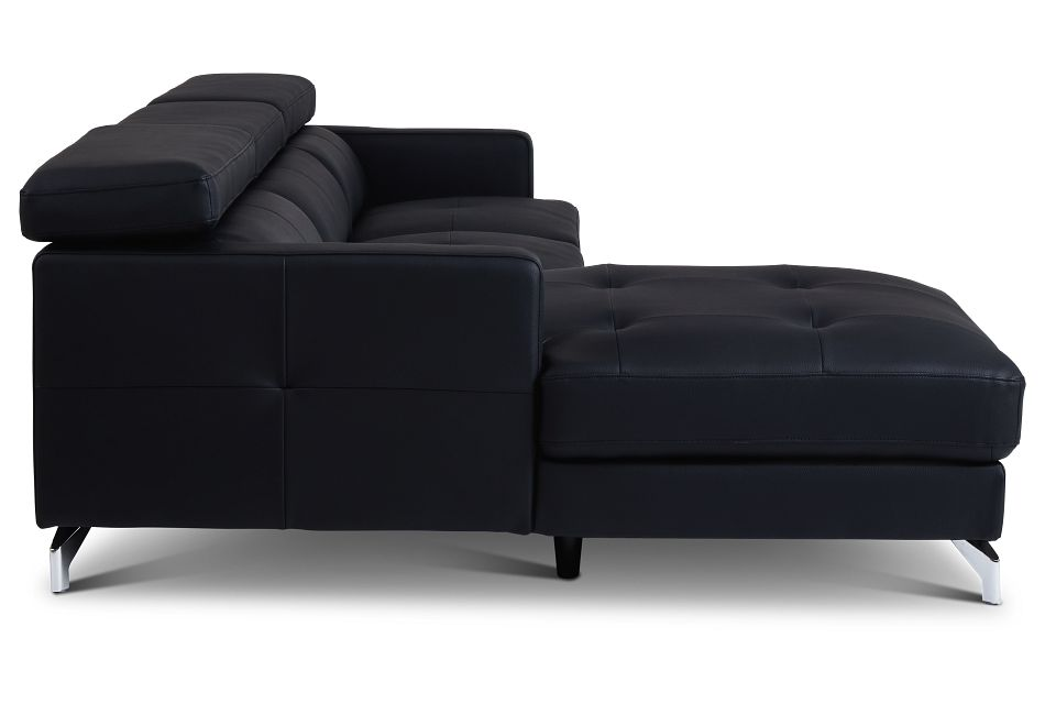 Marquez Black Micro Left Chaise Sectional,  (2)