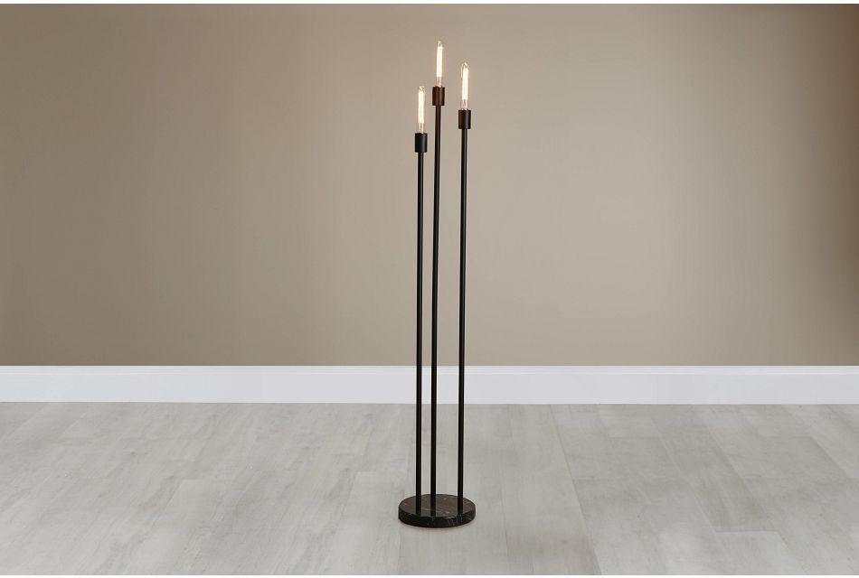Atlas Black Metal Floor Lamp