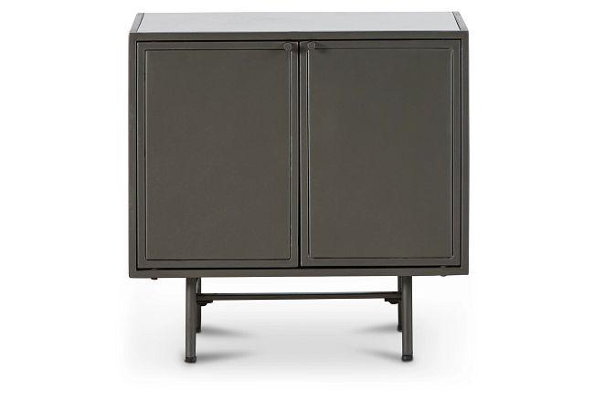 Ziggy Marble Dk Gray Cabinet