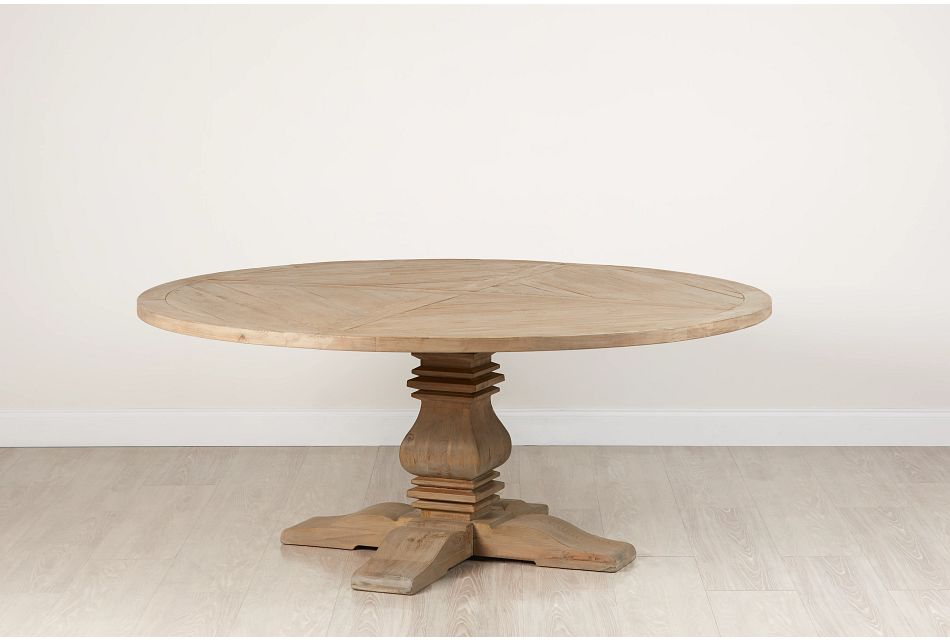 "Hadlow Gray 72"" Round Table"