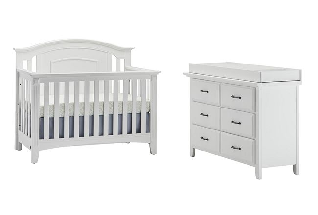Willowbrook White Small Crib Bedroom