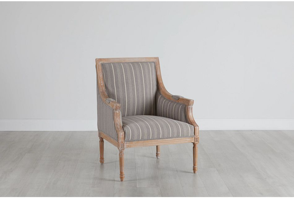Mckenna Multicolored Fabric Accent Chair,