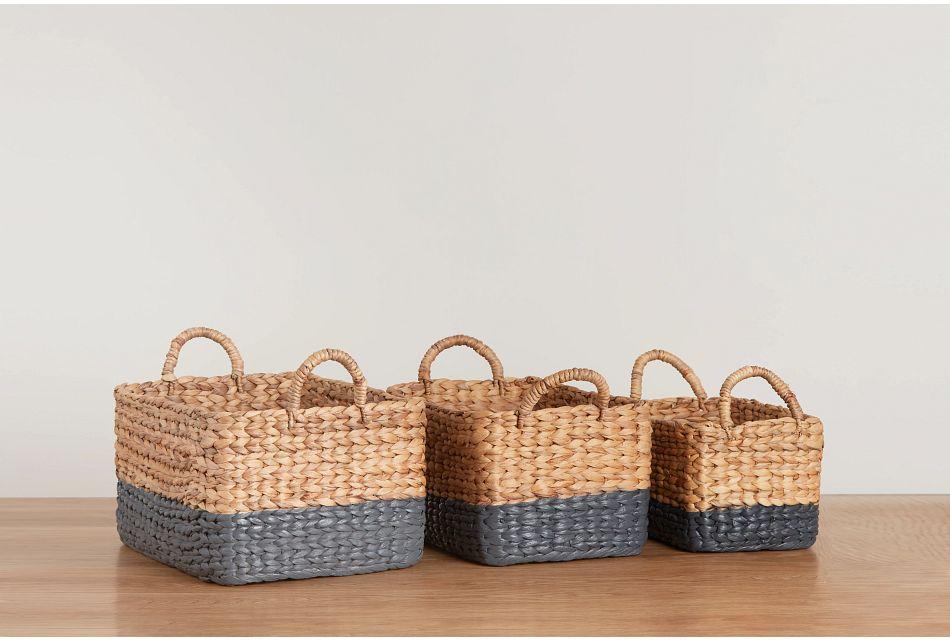 Bonnie Set Of 3 Brown Basket