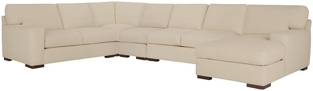 Veronica Khaki Down Large Right Chaise Sectional (0)