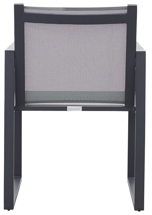 Linear Dark Gray Sling Arm Chair (2)