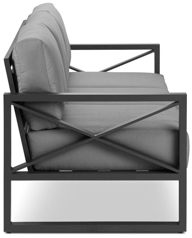Linear Dark Gray Aluminum Sofa (2)