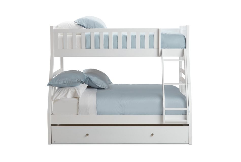 Oakley White Trundle Bunk Bed
