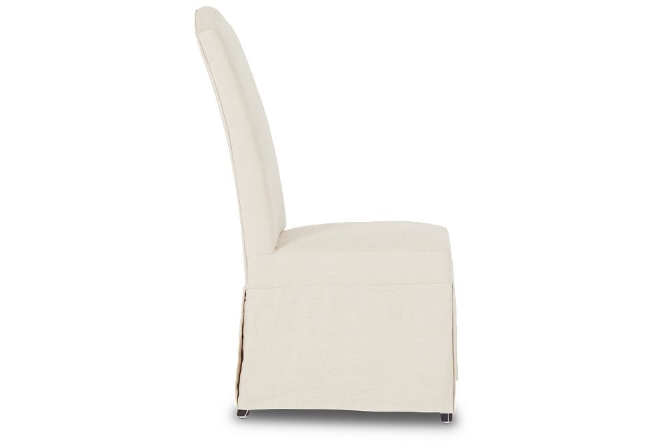 Aberdeen Beige Fabric Upholstered Side Chair,  (2)