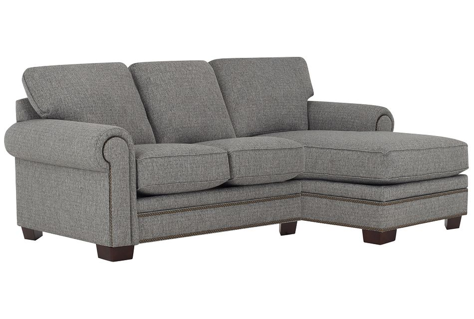 Foster Gray Fabric Right Chaise Sectional