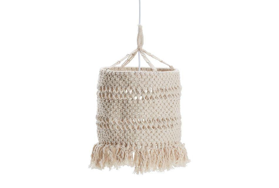 Fringe Natural Knit Pendant