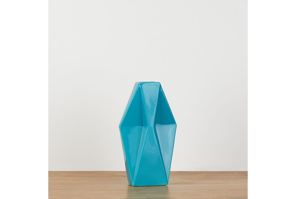 Leeann Teal Medium Vase