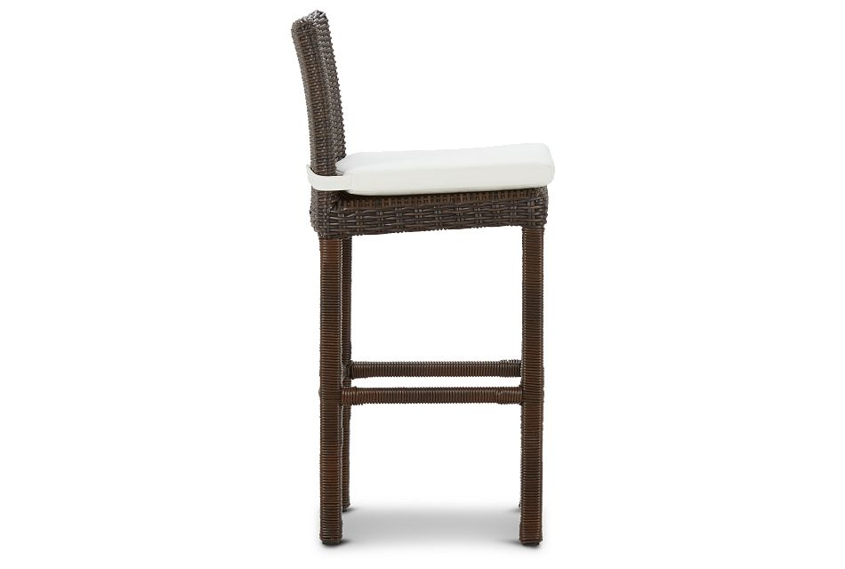 "Southport White Woven 30"" Barstool"