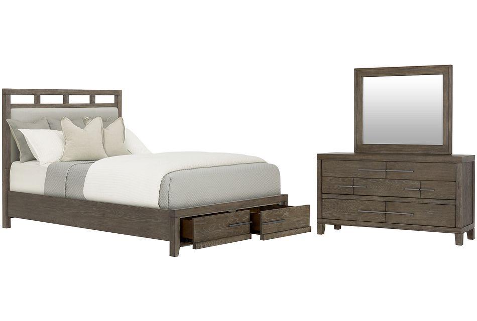 Bravo Dark Tone Uph Platform Storage Bedroom