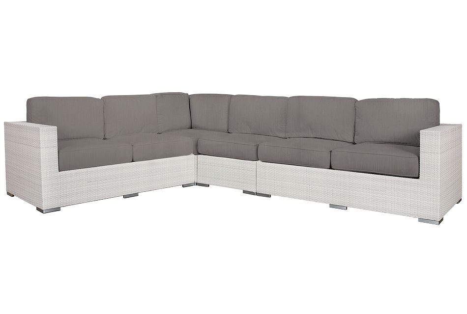 Biscayne Gray Large Two-arm Sectional