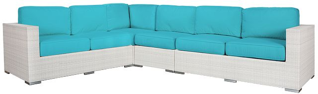 Biscayne Dark Teal Large Two-arm Sectional (0)