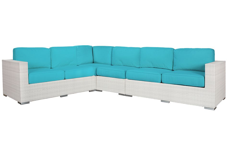 Biscayne Dark Teal Large Two-arm Sectional