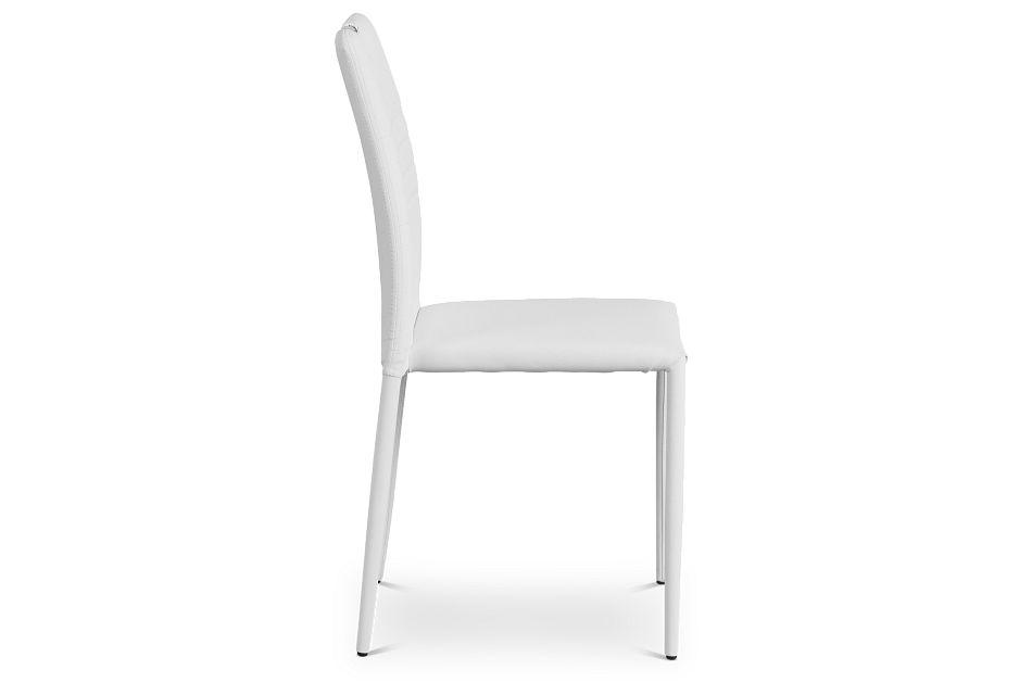 Skyline White Upholstered Side Chair,  (2)