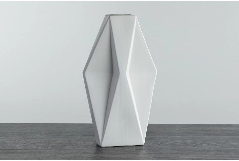 Wallis White Large Vase