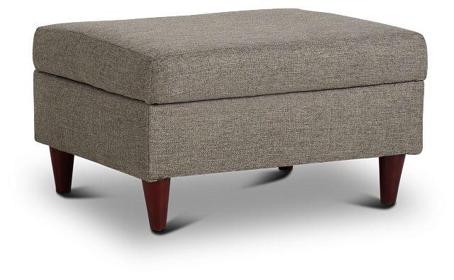 Jensen Dark Gray Fabric Storage Ottoman (1)