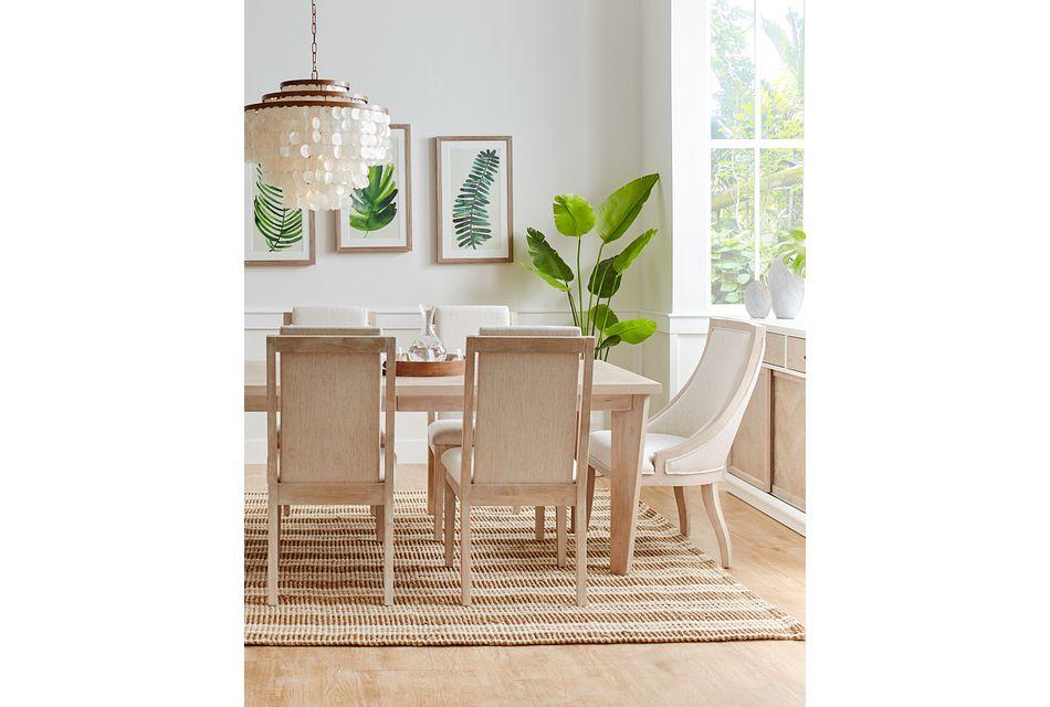 Boca Grande LIGHT TONE  Table & 4 Upholstered Chairs,  (2)