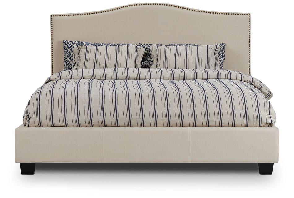 Dawson Beige Uph Platform Bed, King (3)