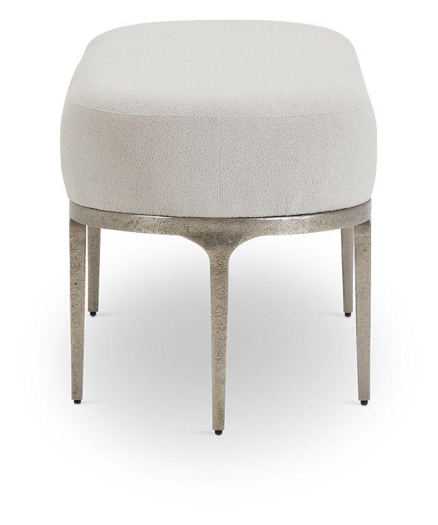 Linea Upholstered Metal Bench (3)