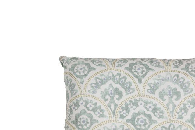 Tomini Green Fabric Lumbar Accent Pillow (1)
