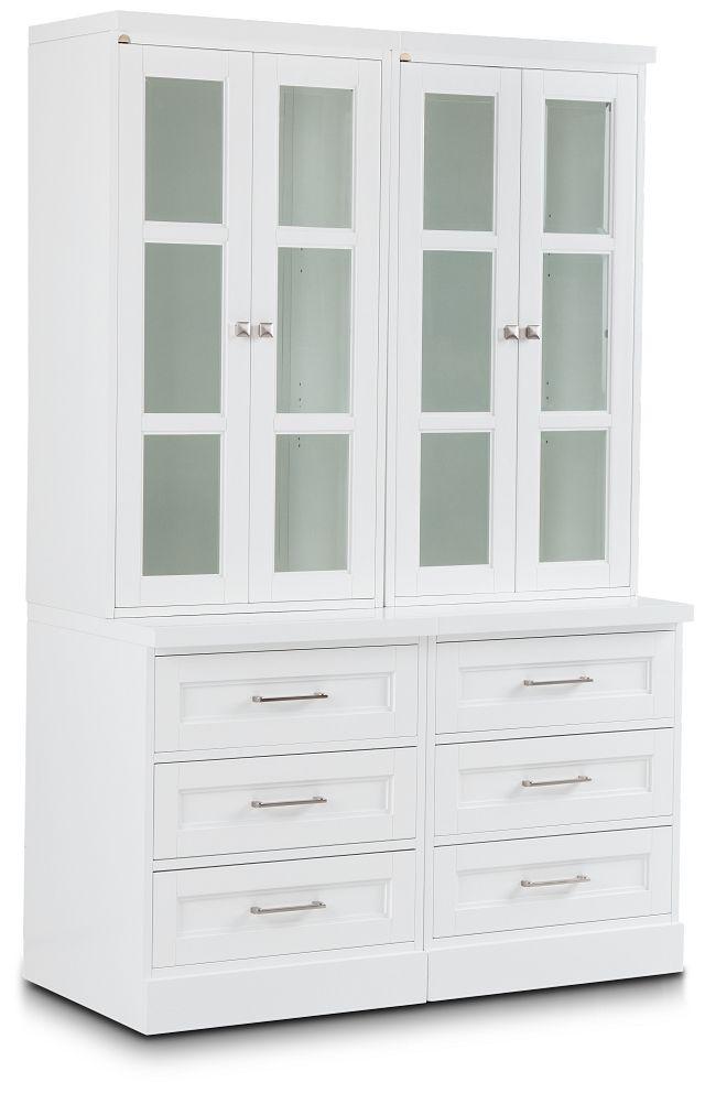 Newport White Drawer Bookcase (2)