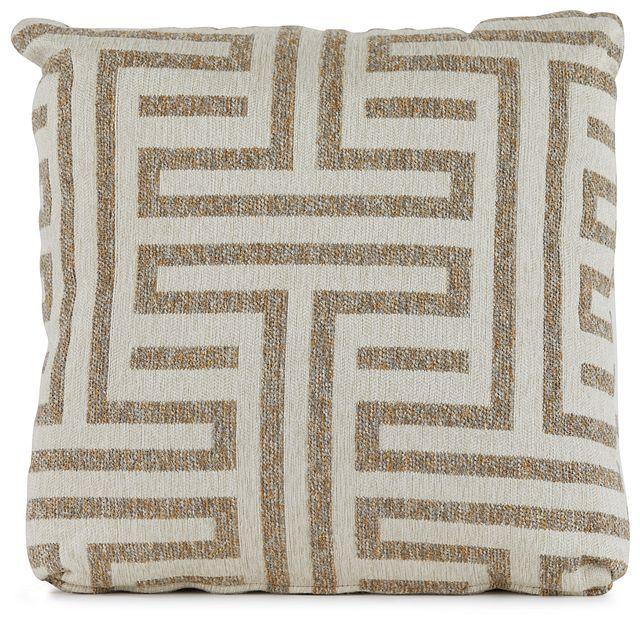 "Doric Beige 18"" Square Accent Pillow (0)"