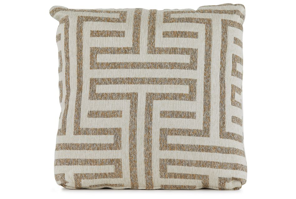 "Doric Beige 18"" Square Accent Pillow"
