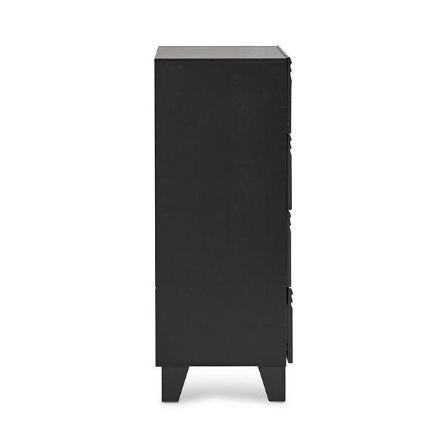 Midtown Black 4-drawer Chest (3)