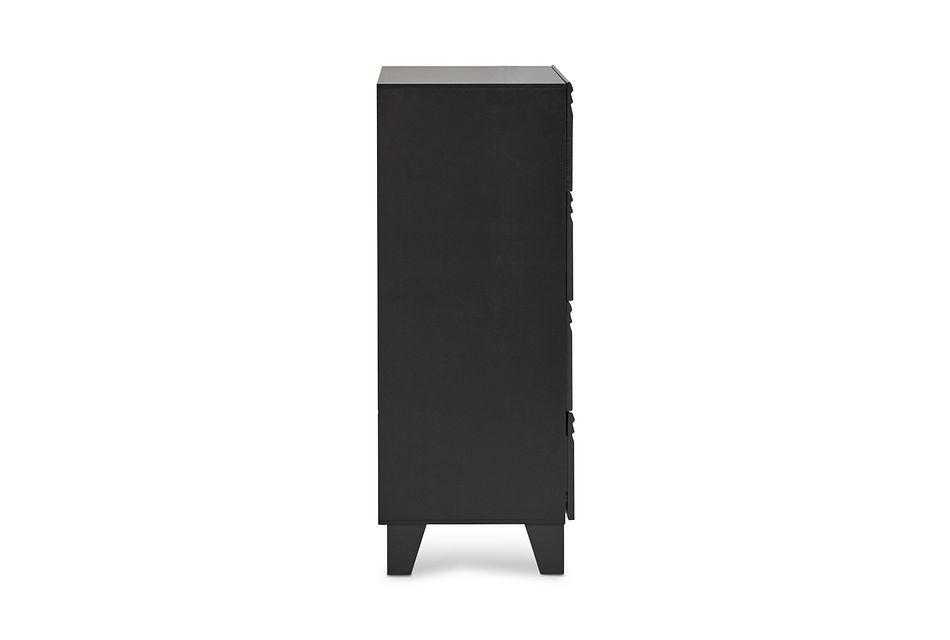 Midtown Black  4-drawer Chest