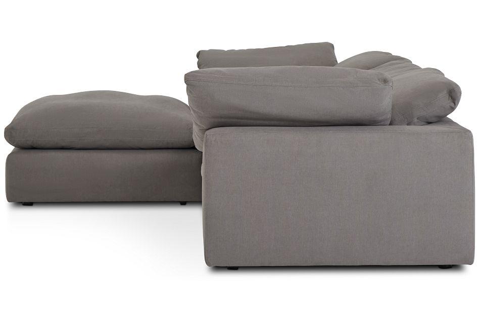 Nixon Light Gray Fabric 4-Pc Bumper Sect,  (2)