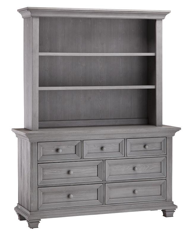 Westport Light Gray Dresser & Hutch (1)