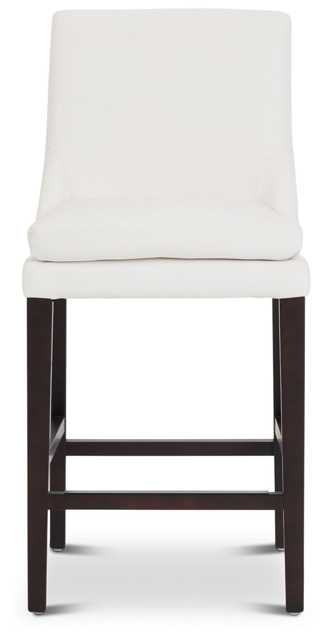 """Tito White 24"""" Upholstered Barstool (3)"""