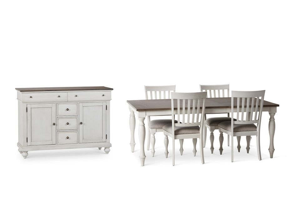 Grand Bay Two-tone Rect Dining Room