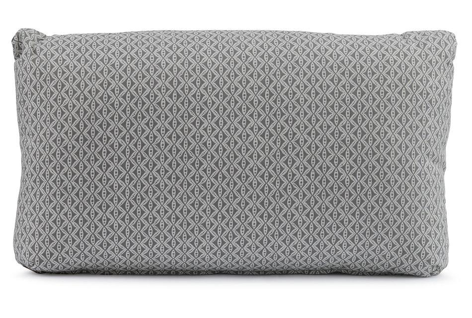 Motif Gray Lumbar Square Accent Pillow