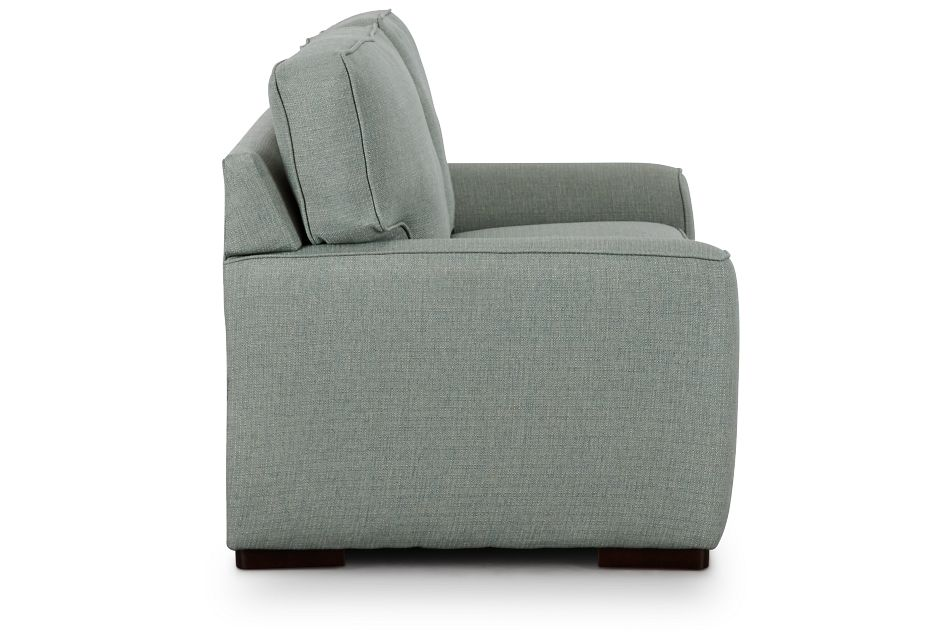 Austin Green Fabric Loveseat,